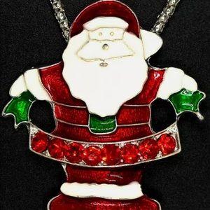 Betsey Johnson Santa Necklace